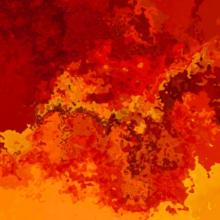 abstract stained pattern texture square background hot fire red orange yellow color - modern painting art - watercolor splotch effect