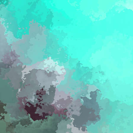 abstract stained pattern texture square background mint green grey mauve color - modern painting art - watercolor splotch effect