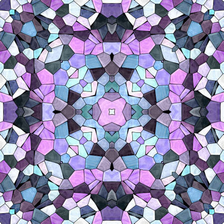 mosaic kaleidoscope jewel seamless pattern texture background - cute multi colored with black grout - pink, purple, violet, mauve, maroon, blue,