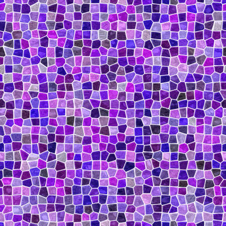 surface floor marble mosaic pattern seamless square background with white grout - violet purple mauve pink color Stockfoto