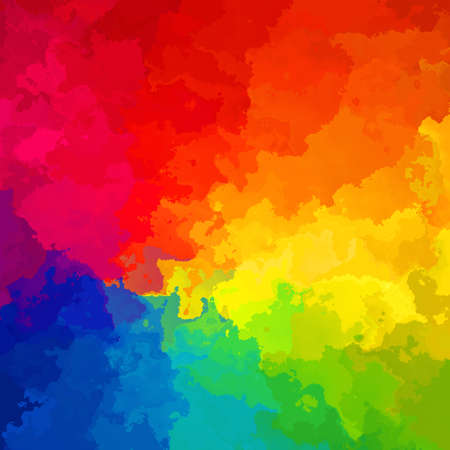 abstract stained pattern texture square background full color spectrum rainbow - modern painting art - watercolor splotch effect