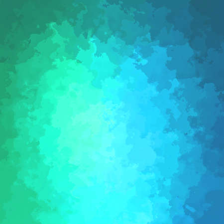 abstract stained pattern texture square background neon cyan blue green color - modern painting art - watercolor splotch effect