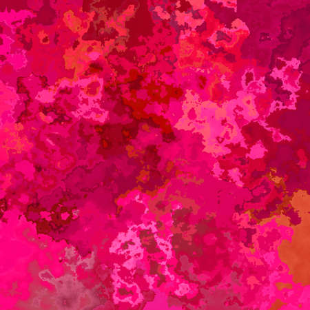 abstract stained pattern texture square background hot pink magenta fuchsia color - modern painting art - watercolor splotch effect