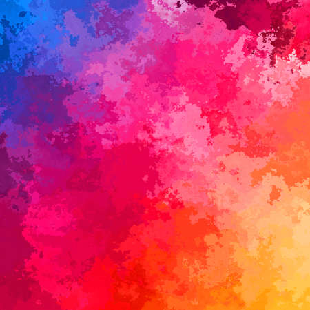 abstract stained pattern texture square background half color spectrum rainbow - modern painting art - watercolor splotch effect