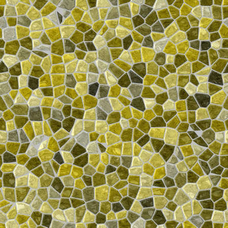surface floor marble mosaic pattern seamless square background with gray grout - gold yellow green color