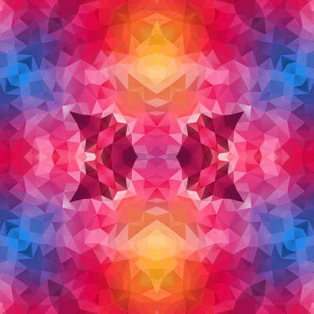 mosaic kaleidoscope jewel seamless pattern texture background - vibrant colors hot pink magenta blue yellow orange Stockfoto