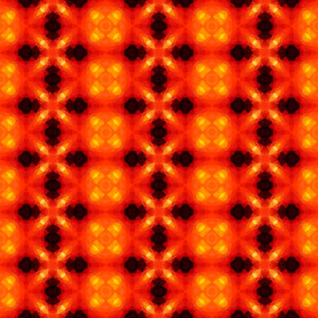 mosaic kaleidoscope jewel seamless pattern texture background - color vibrant red orange yellow black