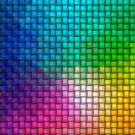 woven rattan wicker weave seamless knit pattern texture background - full color rainbow spectrum
