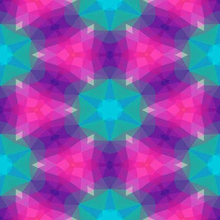 mosaic kaleidoscope jewel seamless pattern texture background - color hot pink magenta purple green blue Stockfoto