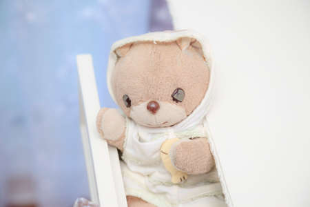 Dream cute teddy bear on the Dressing table
