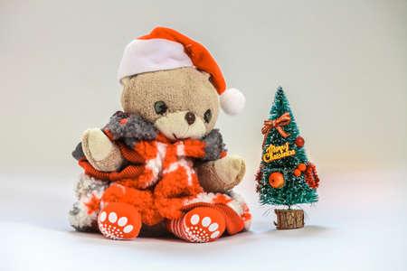 Teddy bear wish you merry christmas.