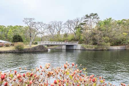 Hokkaido Hakodate - MAY 10,2017 : Onuma Quasi-National Park in hokkaido japan.