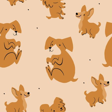 Cute dogs are perfect for textiles, birthday parties, events. Design by Alicia Ard.