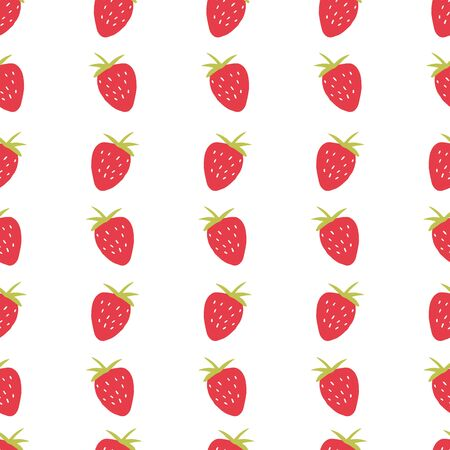 Seamless strawberry pattern. Trendy vector red strawberry pattern texture. 向量圖像