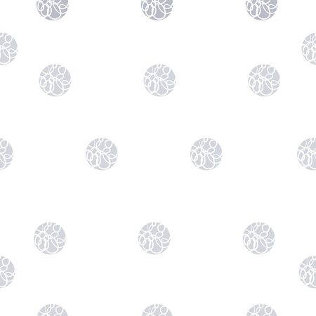 Blue hand drawn dots on white background. circles. Seamless pattern. Stylish repeating texture. Modern. Simple. Perfect for scrap booking, wallpaper, and textile. 版權商用圖片 - 148452483