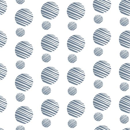 Blue hand drawn dots on white background. circles. Seamless pattern. Stylish repeating texture. Modern. Simple. Perfect for scrap booking, wallpaper, and textile.
