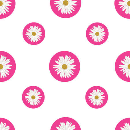 Cute Repeat Daisy Wildflower Pattern with light pink background. Seamless floral pattern. White Daisy. Stylish repeating texture. Repeating texture. 版權商用圖片 - 151394923