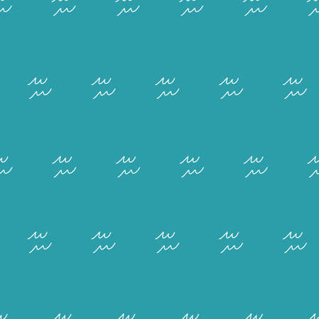 Seamless repeat vector sketchy water pattern.
