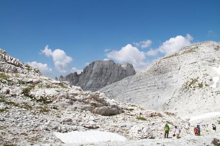 albanian: Hikers in Jezerce, Albanian Alps