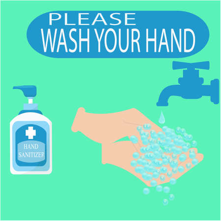 notice Wash your hands, icon vector illustration Standard-Bild - 143388662