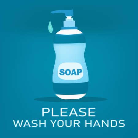 soap bottle or Hand sanitizer bottle,for Washing hands,vector illustration of sanitation or for Hand Washing Signs