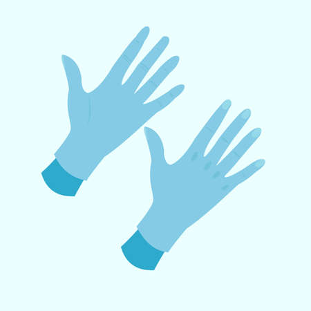 hand gloves illustration,symbol of protection against viruses and bacteria Stock Illustratie