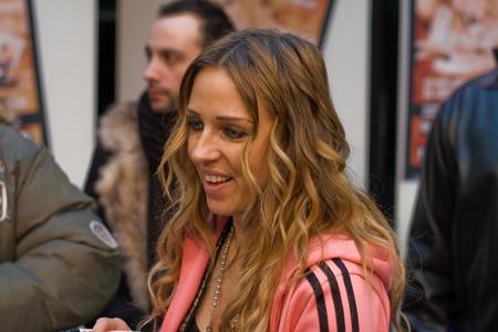 catchy: Frankfurt, Germany - February 18, 2011 - Loona (Marie-José van der Kolk) presents and signs her new single CD El Cucaracho - El Muchacho Editorial