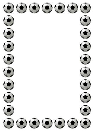 Voetbal of voetbal frame met plaats voor tekst, witte achtergrond