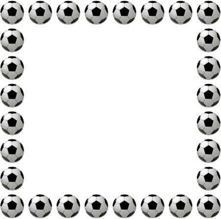 Square Soccer Ball Or Football Frame With Place For Text, White ...