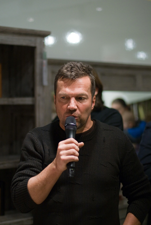 the autograph: OBERNBURG, GERMANY � JANUARY, 2014  German former soccer player Lothar Herbert Matthaeus at a autograph session for fans on January 24, 2014 in Obernburg, Germany Editorial