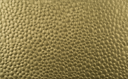 Golden textured anodized metal plate Stock Photo