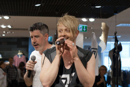 life partner: DARMSTADT, GERMANY � MAY, 2014  Television presenter, musical performer, musician and entertainer Ross Antony  real name  Ross Anthony Catterall  and his life partner Paul Reeves  opera singer  at a autograph session for fans on May 24, 2014 in Darmstadt