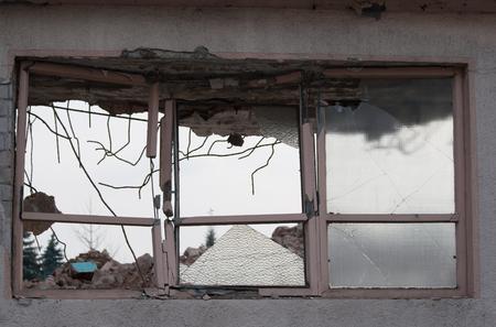 demolished house: Part of a demolished house Stock Photo