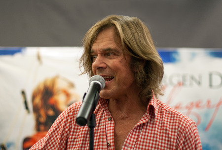 WEITERSTADT, GERMANY , OCTOBER, 2011: Singer Juergen Drews at a autograph session for fans on October 5, 2011 in Weiterstadt, Germany