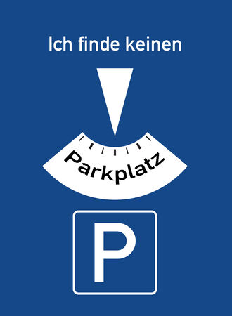 can not: A parking disc with the german words for I can not find a parking lot, symbolizes parking problems Stock Photo