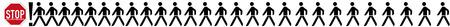 abstinence: Stop, immagine simbolica per rallentamento, pittogramma su sfondo bianco