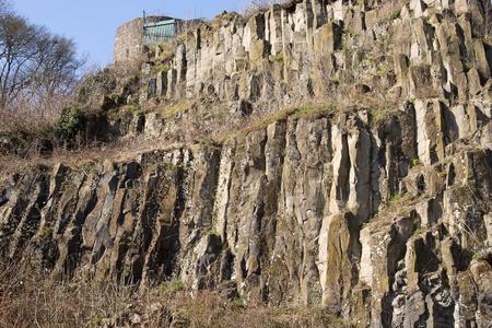 place of interest: Basalt rocks at the Veste Otzberg (castle) in Germany