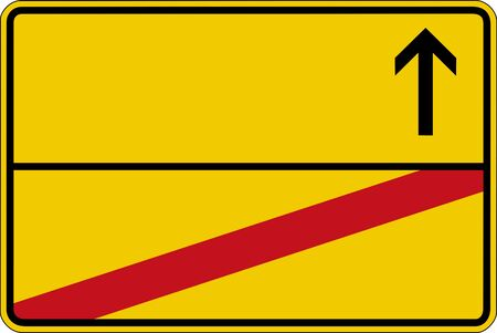 symbolics: Yellow german road sign without text, cut