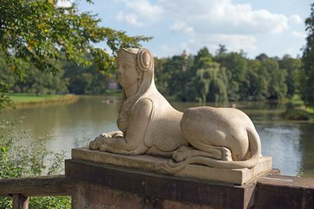 sphinx: Sphinx statue in park Schoenbusch near Aschaffenburg