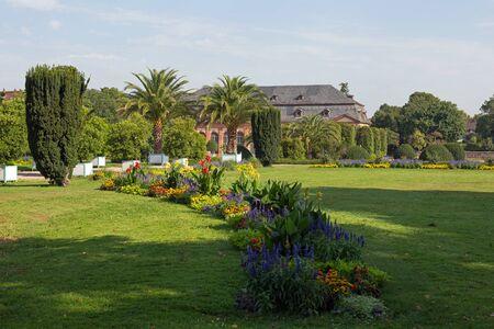 hesse: Orangerie and Orangerie garden in Darmstadt Hesse, Germany
