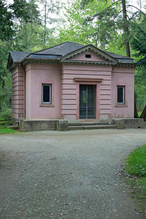 philosophers: Philosophers house in park Schoenbusch near Aschaffenburg Stock Photo