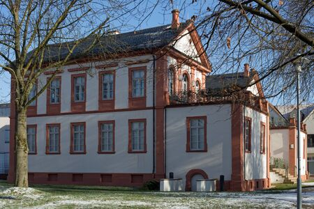 mansard: Castle Fechenbach in Dieburg, Hesse, Germany Editorial