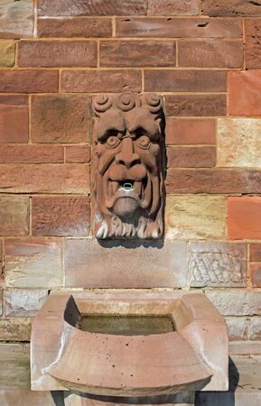 river main: Gargoyle at the shore of the river Main in Aschaffenburg, Germany
