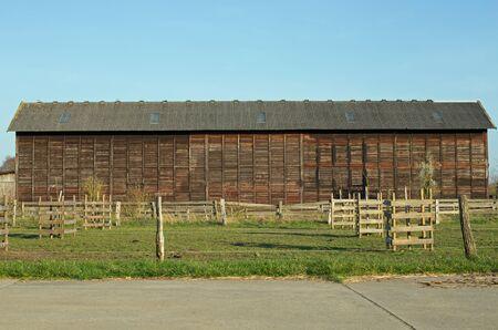 damper: Tobacco barn in Lorsch (hesse, germany) Stock Photo