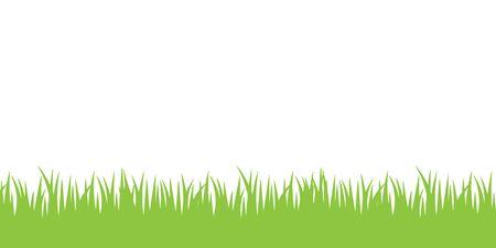 Illustration grass, white background
