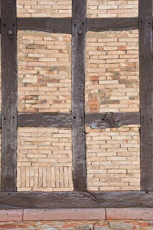 restauration: An old half-timbered house, which is being restored Stock Photo