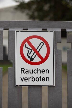 Hinweisschild Rauchen verboten