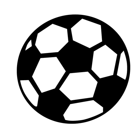 black and white soccer ball, graphic, white background