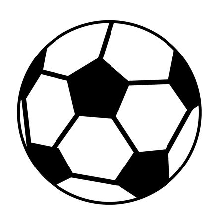 soccer ball or football, graphic, white background Stock Photo