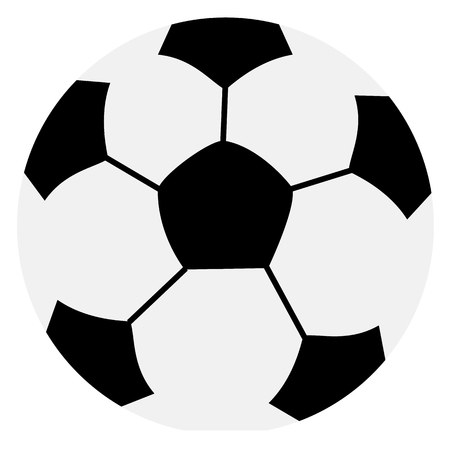 soccer ball or football, graphic, white background Standard-Bild
